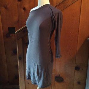 Bobi Asymmetrical Cotton T Shirt Dress